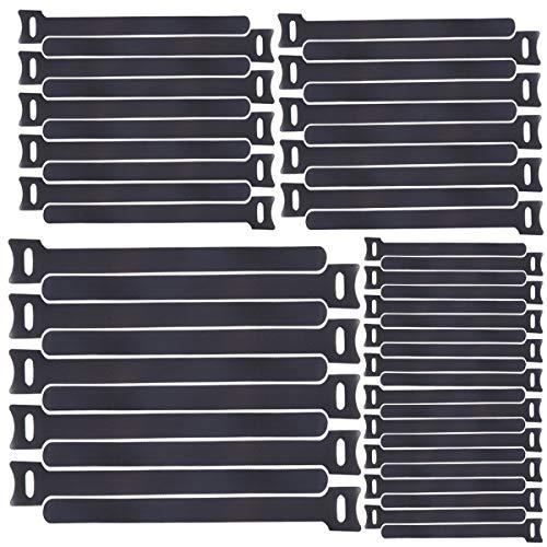 Honyear 50pcs wiederverwendbare Klettkabelbinder in 3 verschiedenen Längen——265mm/200m/160mm——Kabel-Klettband Kabelklett Kabelbinder Klettbinder Klettverschluss