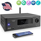 1000W Bluetooth Home Theater Receiver - 5.2-Ch Surround Sound Stereo Amplifier System with 4K Ultra HD, 3D Video & Blu-Ray Video Pass-Through Supports, MP3/USB/AM/FM Radio - Pyle PT696BT