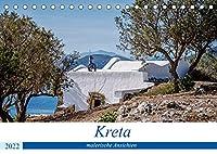 Kreta - malerische Ansichten (Tischkalender 2022 DIN A5 quer): Kreta - eine vielfaeltige Paradiesinsel in Griechenland (Monatskalender, 14 Seiten )