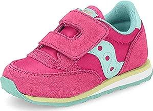 Saucony Boy's Baby Jazz Hook & Loop Sneaker, Pink/Turqoise/Lime, 7.5 M US Toddler