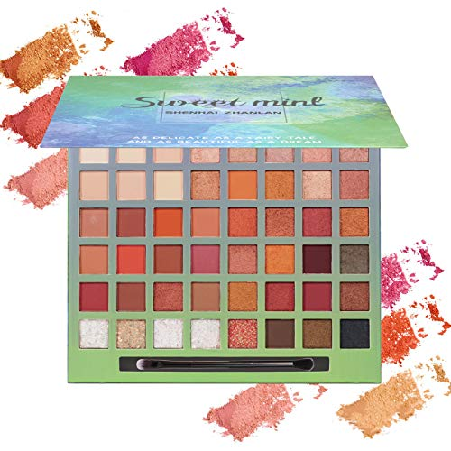 Onlyoily Paleta De Sombras De Ojos Profesionales - Paleta Maquillaje - Altamente Pigmentados 48 Colores Brillantes y Mate