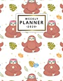 Weekly Planner 2020: Weekly & Daily Views with To-Do's, Funny Holidays & Inspirational Quotes, Vision Boards, Notes & More | Pretty 2020 Organizer, Agenda & Diary | Cute Tropical Sloth & Yoga Print