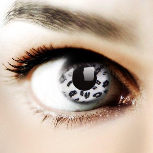 Halloween Kontaktlinse Lustige Linse Weißer Leopard Jährlicher Einweg 14 mm stärke 0.00 von ColourVUE entfernt