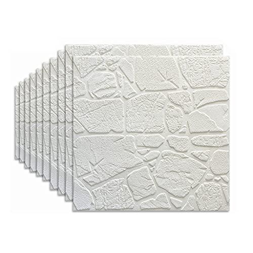 1 0PCS Espuma de ladrillo Autoadhesivo 3D Pegatinas de Pared Tridimensional, Sala de Estar de Pared Pared Pared Impermeable Decorativo Pegatinas (Color : A3, Size : 70X70CM)