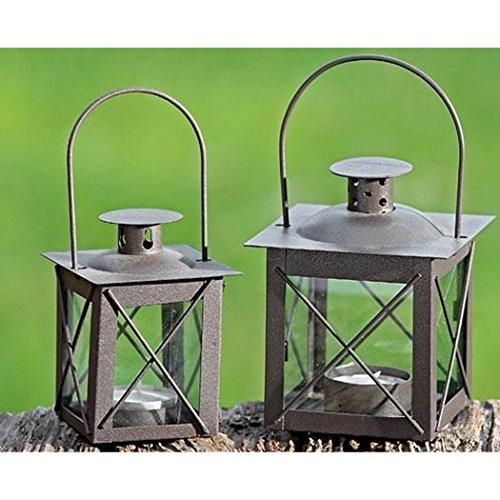 Laterne, Windlicht Farol mit Henkel in antikbraun aus Eisen, 1 Stück, ca. 12,5 cm hoch