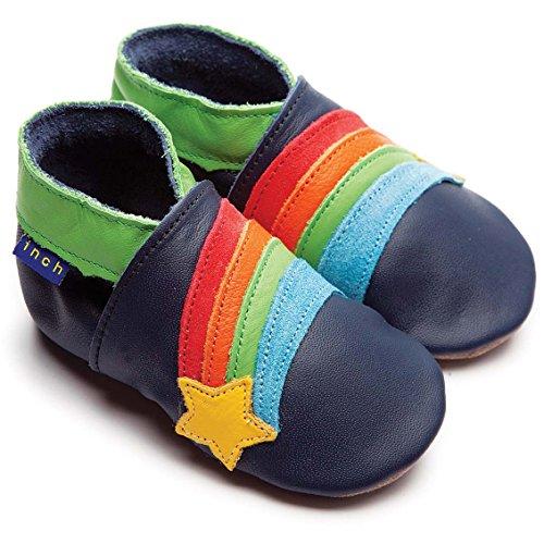 Inch Blue Krabbelschuhe Rainbow Star Navy, Small