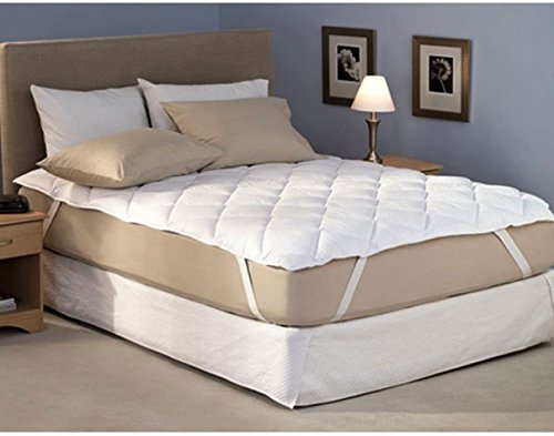 "RRC Cotton Water Resistant Quilted Mattress Protector - Queen Size, White - (60"" x 78"")"