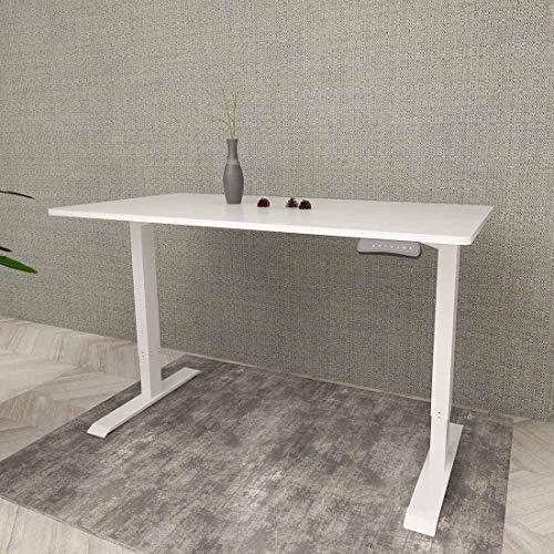 ED2 Elektrisch Höhenverstellbarer Schreibtisch mit Tischplatte. Mit Memory-Steuerung und Softstart/-Stop& integriertes Anti-Kollisionssystem (80 x 180 cm, Weiß)