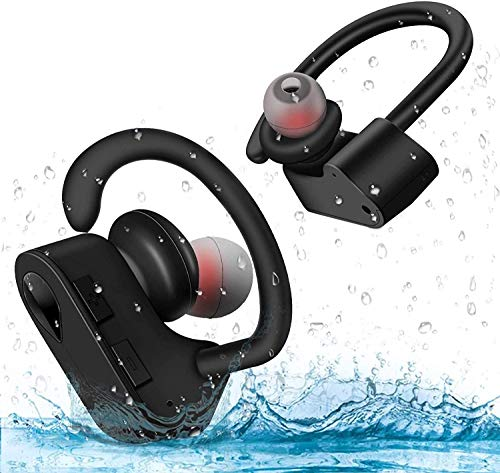 Wireless Headset Bluetooth Headset,Stereo Headphones IPX5 Sweatproof TWS Sport in-Ear Earphones, Microphone HD Sound Quality,for Gym/Workout, for iPhone Android