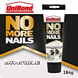 UniBond No More Nails Invisible, Heavy-Duty Clear Glue, Strong Glue for Wood, Ceramic