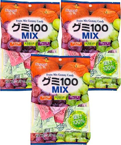 Kasugai Mix Gummy Candy 3.59oz (3 Pack)