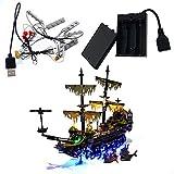 GEAMENT Juego de luces LED para piratas del Caribe Silent Mary – compatible con Lego 71042 Kit de construcción (juego de Lego no incluido)