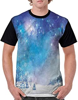 BlountDecor Casual Short Sleeve Graphic Tee Shirts,Trinity River High Rise Centre Fashion Personality Customization