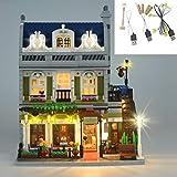 QJXF Juego De Luces USB para (París Restaurante) Bloques De Construcción De Modelos, Kit De Luz LED Compatible con Lego Restaurante Parisino 10243 (No Incluido Modelo)
