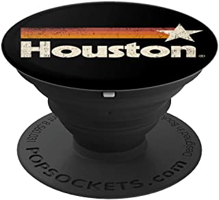 Vintage Houston Texas T-Shirt Houston Strong Stripes PopSockets Grip and Stand for Phones and Tablets