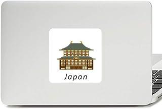 Decalque tradicional de templo cultural japonês, adesivo de vinil paster para laptop decoração de PC