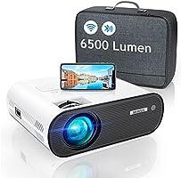 WiFi Bluetooth Projector, WiMiUS 6000 Lumen Mini Portable Video Projector 1080p Full HD Projector Home Cinema Wireless...