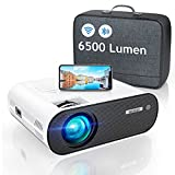 WiFi Bluetooth Projector, WiMiUS 6000 Lumen Mini Portable Video Projector 1080p Full HD Projector Home Cinema Wireless WiFi Zoon Compatible IOS, Android, Laptop, PS4 (Projector Bag Included)