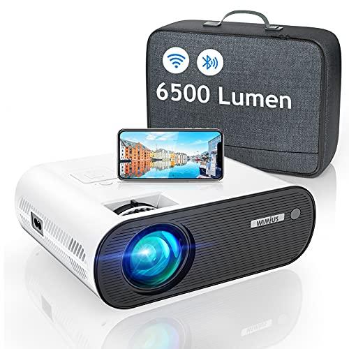 WiFi Bluetooth Projector, WiMiUS 6000 Lumen Mini Portable Video Projector...