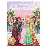 Depesche 10845 - Libro de colorear con pegatinas, modelo TopModel Glamour, aprox. 25x 33x 0,5 cm