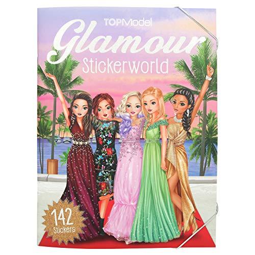 Depesche 10845 Stickerworld Malbuch, TOPModel Glamour, ca. 25 x 33 x 0,5 cm