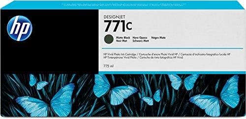 HP 771C Mattschwarz Original Druckerpatrone mit hoher Reichweite (775 ml) für HP DesignJet