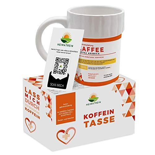 HEIMATREIN 1er Koffein Tasse 270ml - Die Koffeintasse Des 21. Jahrhunderts - Das Perfekte Arzt Geschenk! Krankenschwester Geschenke, Tasse Arzt