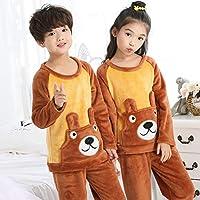 3-12T子供服ナイトウェア/ホームウェアキッズピジャマフランネルパジャマガールズボーイズパジャマコーラルフリースキッズパジャマセット-スタイル11_7