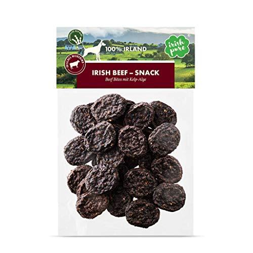 Irish Pure Beef Bites mit Kelp-Alge - Rinderhäppchen aus 90% Fleisch, Training Hund, Getreidefrei, Hunde Belohnung, 100% Natürlicher Snack, Hundeleckerli, Gesunder Hundesnack, Kausnack - 150g