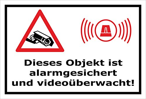 Melis Folienwerkstatt Aufkleber - Objekt Video-überwacht - 15x10cm – S00348-017-A 20 VAR