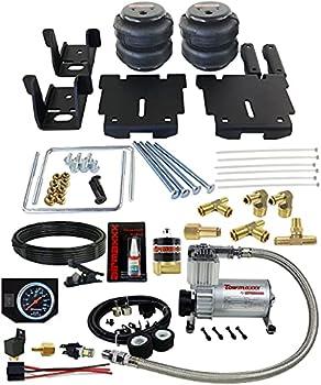 airmaxxx Air Over Load Tow Kit Compressor & Black Gauge Fits 2007-18 Silverado 1500 Truck