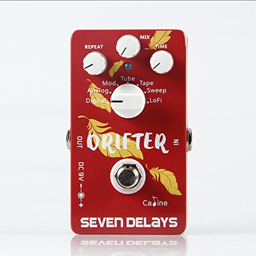 CALINE Drifter Seven Delays CP-37 Guitar Effects Pedal for Electric/Acoustic Guitarra Guitar Accessories
