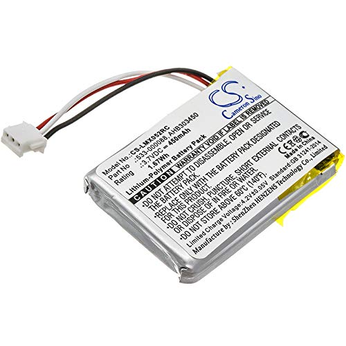 TECHTEK batería sustituye 533-000120, para 533-000121, para AHB303450, para L/N: 1412 Compatible con [LOGITECH] 910-004362, 910-004374, M-RO052, MX Anywhere 2, MX Ergo, MX Master, MX Master 2, MX Mas