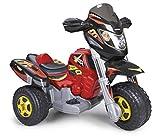 FEBER Racer - Moto électrique à 3 roues pour enfants de 3 à 7 ans, 6v, Rouge et Noire (Famosa 800008540)