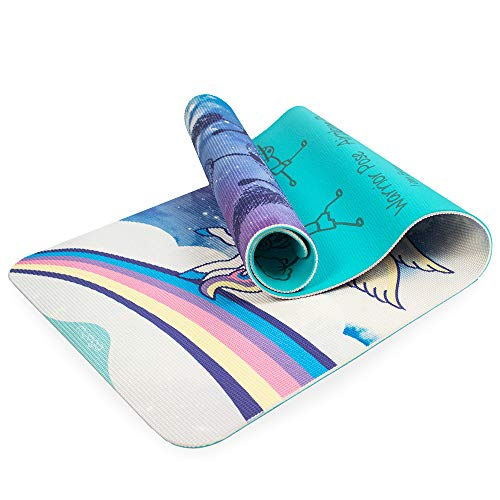 Myga - Esterilla de yoga para niños, diseño de dulces sueños, para niños, esterilla de ejercicios para pilates, antideslizante y multiusos para ejercicios de fitness, para el hogar, gimnasio, estudio