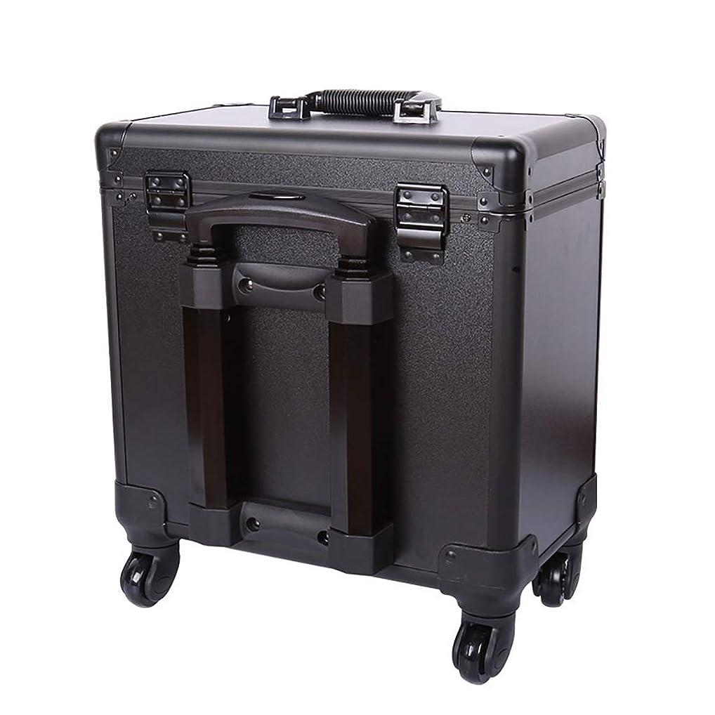 エールハブブ必需品理髪道具箱、ユニバーサルホイールポータブルトロリーケース美容院特別多機能大容量ハーフハイト箱