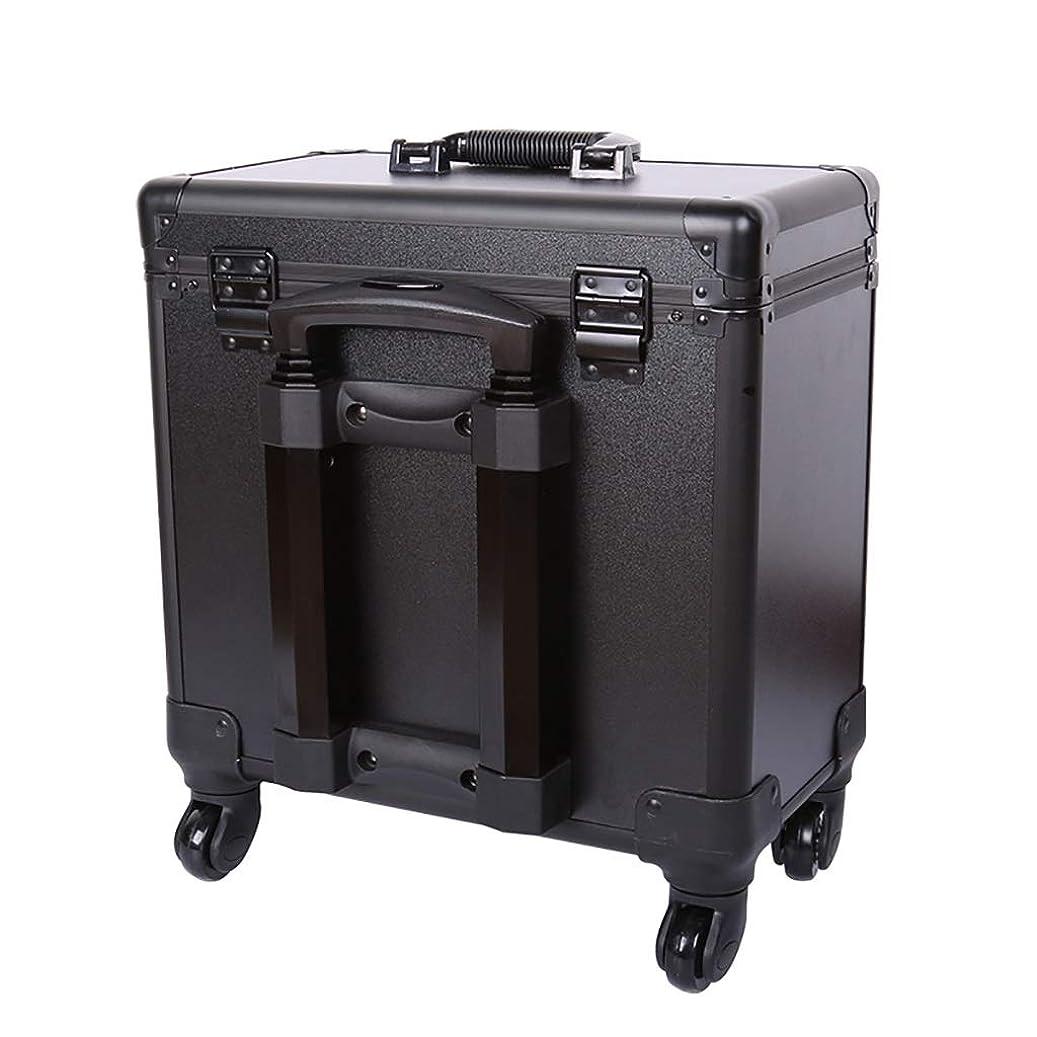 排出バーチャル偉業理髪道具箱、ユニバーサルホイールポータブルトロリーケース美容院特別多機能大容量ハーフハイト箱