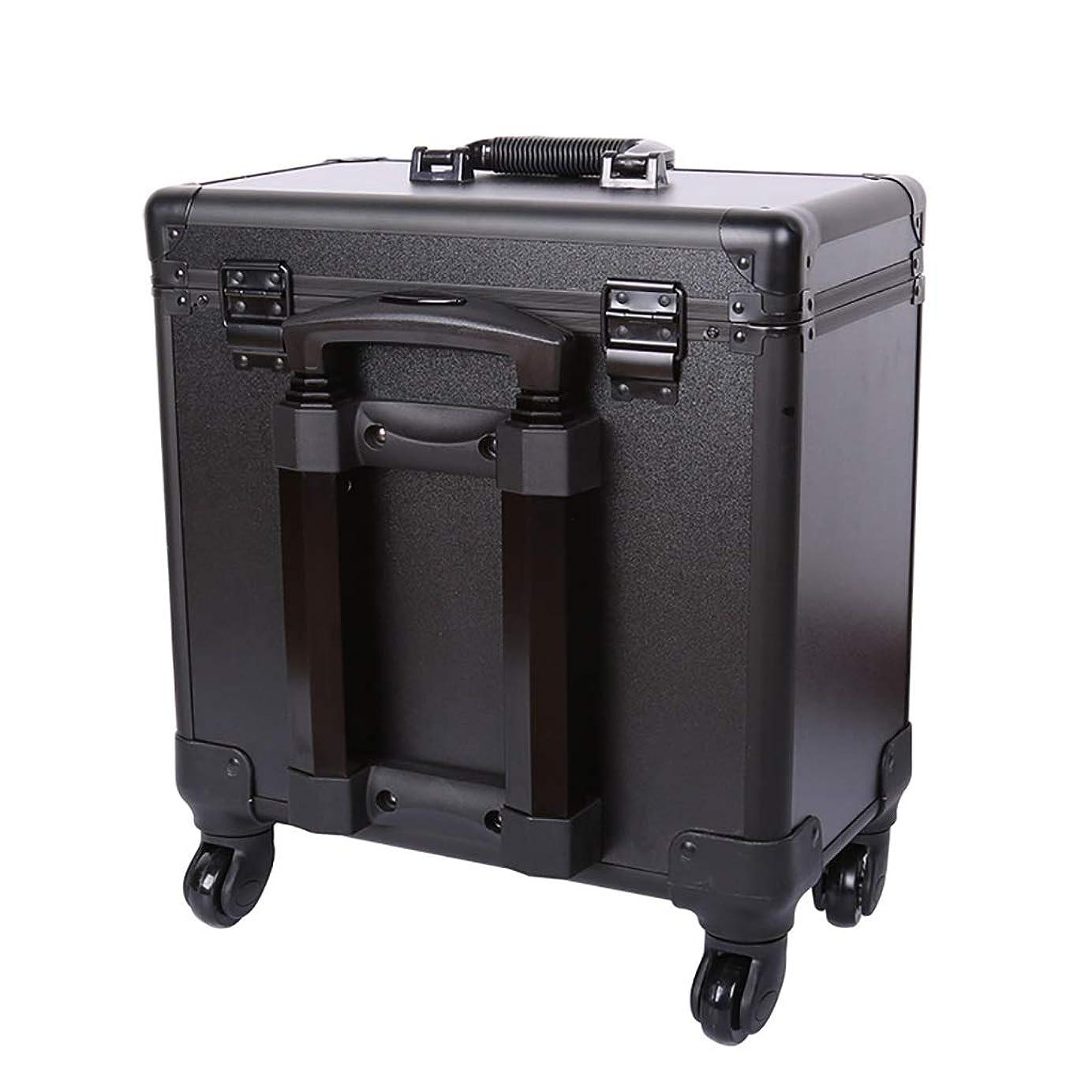 ストレッチ映画王族理髪道具箱、ユニバーサルホイールポータブルトロリーケース美容院特別多機能大容量ハーフハイト箱