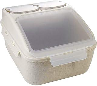 Pots et bocaux de conservation 10 kg Boîte De Rangement De Riz Farine Seau Scellé De Baril De Riz Ménage Boîte De Stockage...