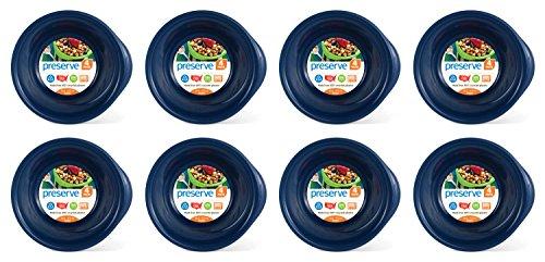 Preserve Tigelas sem BPA para uso diário feitas de plástico reciclado nos EUA, conjunto de 32, azul escuro