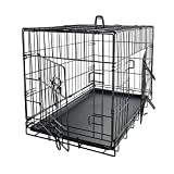 Dog Crates for Small Dogs - Dog Crate 24' Pet Cage Double-Door Best for Puppy & Kitten Pets - Wire Metal Kennel Cages with Divider Panel & Tray - In-door Foldable & Portable for Animal Out-Door Travel