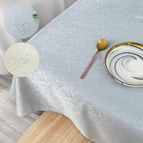 Mantel Gris Mantel Seda Brillo Mantel Resistente a Las Manchas 120 x 160 cm (1,9 ㎡) Mantel de fácil Cuidado Mantel Lavable