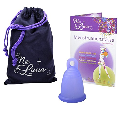 MeLuna Sport Copa Menstrual, Anillo, Violeta Azulado, Talla S - 1 Unidad