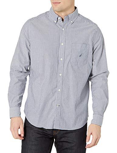 Nautica Camisa de Manga Larga con Botones y Ajuste clásico para Hombre, Azul Marino (j Navy), XX-Large
