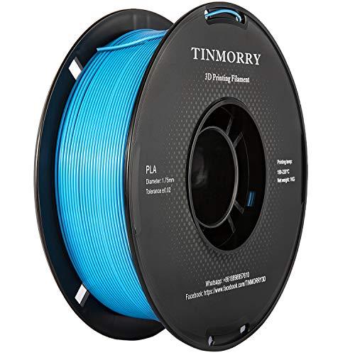 PLA Filament 1.75mm 1kg, TINMORRY PLA Filament 3D Printing Materials for 3D Printer, 1 Spool, Blue
