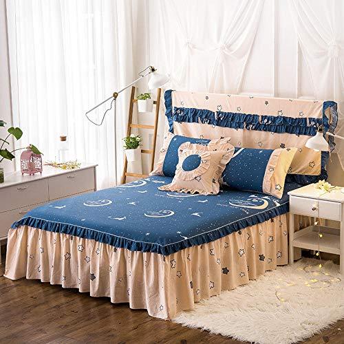 HPPSLT Protector de colchón - Protector de colchón antialérgico Sábana de algodón de una Sola pieza-19_180 * 200cm