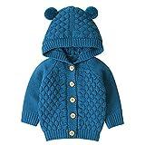 Tianhaik Bebé niña niño Abrigo de Punto Invierno cálido Capucha Prendas de Vestir suéteres cárdigan Outwear