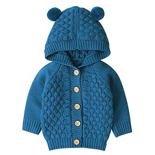 Tianhaik Baby Gebreide gehaakte jas met capuchon bovenkleding herfst winter vest truien