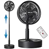 OPOLAR 2021 8-Inch Rechargeable Foldaway Fan, Battery Operated Pedestal Fan with...