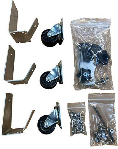 Cajun Bandit Zylinderschloss-Set für Weber Smokey Mountain – sichert den Hauptkörper an der Basis (57 cm WSM-Kit – mit Rädern)